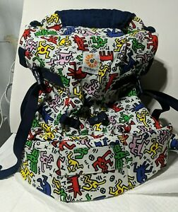 Limited Edition Ergo Baby Keith Haring Four 4 Position 360 Child Carrier White