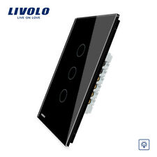 LIVOLO Electrical Wall Touch Sensor 3Gang  Dimmer Switch Black Color