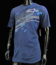 New Alpinestars Racing Zipped Navy Sport Atletic Mens T shirt size Medium