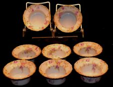 Theodore Haviland Limoges Set of 8 Double Gold Ramekins Purple Flowers Beautiful