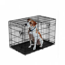 Vibrant Life Double-Door Folding Dog Crate with Divider. More sizes!