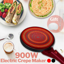 900W Electric Crepe Maker Non Stick Baking Pancake Pan rying Griddle Machine