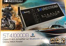 Soundstream ST4.1000DB 1000 Watt Stealth Class-D 4-Channel Amp w/ Bluetooth NEW