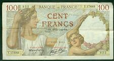 BILLET DE 100 FRANCS SULLY 19-12-1940  ETAT: TTB   T.17689
