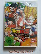 Dragon Ball Z Budokai Tenkaichi 3 Nintendo Wii NEU