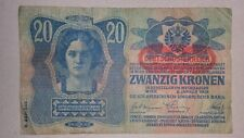 20 kronen korona - AUSTRIA HUNGARY EMPIRE -RARE - 1913 - FREE SHIPPING WORLDWIDE