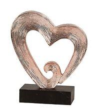 moderne Cœur sculpture cuivre incluant socle Hauteur 26 cm