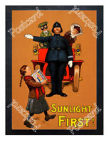 Historic Sunlight Soap 1905 Advertising Postcard