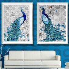 DIY 5D Diamond Peacock Cross Stitch Kit Embroidery Art Crystal Painting Print
