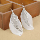 Fashion Women Angel Wing Feather Dangle Long Ear Hook Chandelier Drop Earrings
