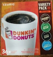 Dunkin' Donuts Variety Pack Keurig K-Cup Pods 36 Count each Box- 2 boxes