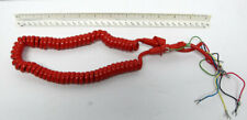 New Telephone Handset Cord - 6' Bright Red Contempra 5-Conductor