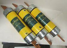 * LOT OF 3 BUSSMANN/COOPER  LOW PEAK DUAL-ELEMENT FUSES  LPS-RK-125       VE-243
