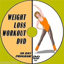LOOSE WEIGHT LESS THAN 1 MONTH EASY TONING FITNESS FAT BURNING WORKOUT DVD NEW