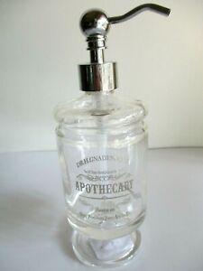 HOTEL BALFOUR  Soap Dispenser Pedestal APOTHECARY Dr H Gnadendorff Silver Glass