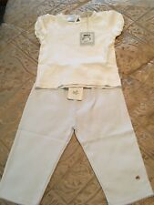 2 Pieces~Best & Co~Baby~12-18 Mos~White Puff Sleeve Tee~18 Mos~Lt Blue Pants