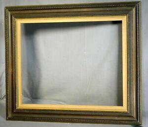 Vintage 1960s Dutch Baroque Picture Frame Wave Molding Carved Wood 16x20not DARK