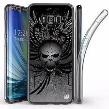 For Samsung Galaxy S8 Plus,Tri Max Transparent Full Body Case Cover WING SKULL