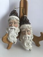 Pinecone Santa Hat Pinecone Ornament NWT Set Of Two
