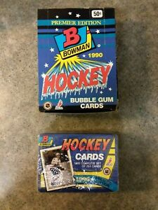 1990 BOWMAN Hockey Premier Edition Complete Set Factory Sealed  and (1) WAX BOX