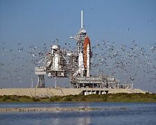 Space Shuttle Atlantis rolls out to the launchpad for STS-27 mission Photo Print
