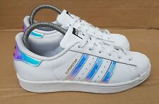 ADIDAS SUPERSTAR HOLOGRAPHIC TRAINERS SIZE 5.5 UK DUBAI BLUES V GOOD CONDITION x