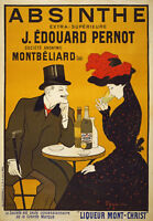 AV59 Vintage 1900's French Absinthe Liqueur Drinks Advertisement Poster Print A4