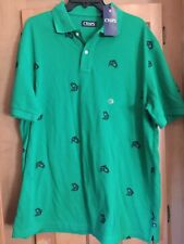 NWT Ralph Lauren Chaps Green Fish Polo Knit Shirt-Size XL