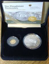 IRELAND GOLD & SILVER PROOF COIN SET 2009. PLOUGHMAN. KM 61