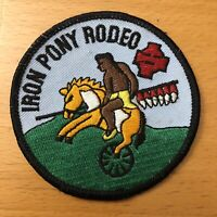 Iron Pony Rodeo Patch - 3 inches x 3 inches - Apache / Native American