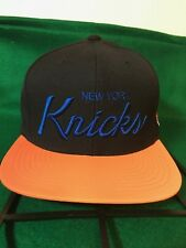 New York Knicks Mitchell & Ness Reflective Brim Vintage Script Snapback Hat