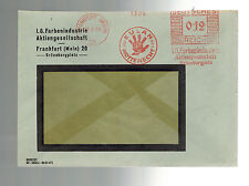 1933 Frankfurt Germany Meter Window cover IG Farben Industry