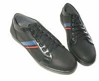 Men Boys Black Classic Retro Nubuck Sports Skate Trainer Lace Casual Walk Size