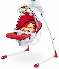 Electrical Swings Caretero Bugies Red Baby Bouncer up to 12 kg