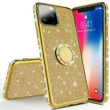 For iPhone 11 Pro Max 2019 Bling Diamond Ring Stand Rubber Slim Case Phone Cover