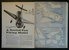 Tether Ducted Fan Barrel Jet Plane How-To build PLANS