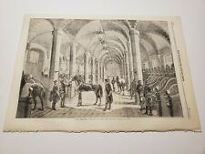 The Inperial Stables at the New Louvre Paris Fance c. 1860 Engraving