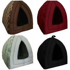 Cat Small Dog House Bed Kitten Pet Igloo Box Cave Puppy Sleeping Cozy Hut