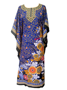 Free Size Kaftan Tunic Holiday Dress Beach Cover up fits 14,16,18,20,22,24