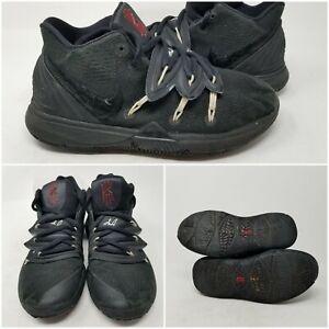 Nike Kyrie 5 GS Black Mesh Basketball Tennis Shoes Sneaker Boy's Size 5 Y