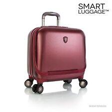 Heys Business Case CarryOn Luggage Hardcase SmartPortal Burgundy Red Spinner TSA