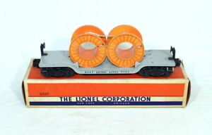 Postwar Lionel 6561 Flatcar With Cable Reels~w/Nice OB