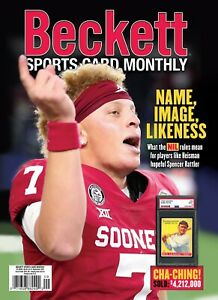 New SEPTEMBER 2021 Beckett SPORTS CARD MONTHLY Price Guide with SPENCER RATTLER