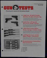 Magazine GUN TESTS March 1997 !HECKLER & KOCH USP40 PISTOL! *SAVAGE M111F RIFLE*