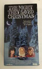 THE NIGHT THEY SAVED CHRISTMAS [VHS] Video-TESTED-RARE VINTAGE-SHIPS N 24HOURS