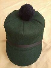 Vintage Celtic Green Scotch Cap, Size S / 6-7/8, NEW, Langenberg Hat Made in USA