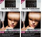 2 X SCHWARZKOPF LIVE SALON PERMANENT HAIR COLOUR 9.52 PEARL LIGHT BLONDE MIX NEW