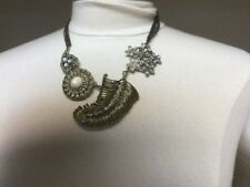Anthropologie Victorian Gold Tones And Rhinestones Necklace