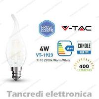 Lampadina led V-TAC 4W = 40W E14 bianco caldo 2700K VT-1923 a fiamma bianca