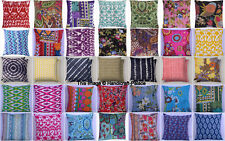 Cushion Cover: India Handmade Floral Cotton Embroidered Pillowcase slip kantha